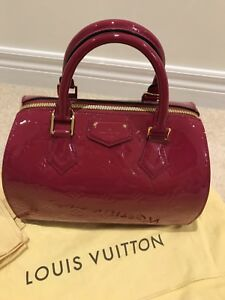 Louis Vuitton (LV) Monogram Vernis Bag i- indian rose (pink)