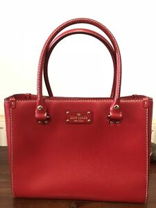 Kate Spade Leather Tote Red