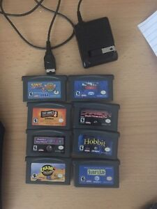 Game boy advance games / charger
