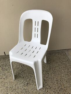 Plastic chairs for hire $1 ( strong 180 kilo rated )