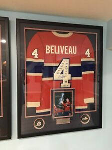 JEAN BELIVEAU SIGNED 4 TIMES