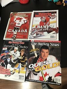 4 Issues of hockey magazines