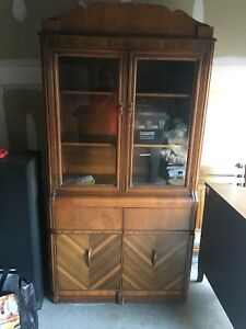 Solid Wood China Display Cabinet