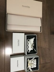 Brand new Pandora ornaments and roll wallet