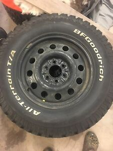 4 winter/mud truck tires and rims