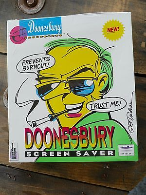 DOONESBURY IBM WINDOWS SCREENSAVER.  NEW,  SEALED OLD STOCK. 1995 IBM DISKETTE