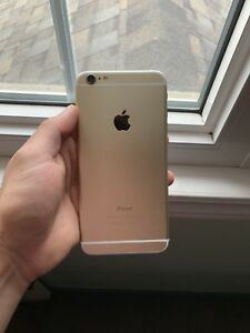 Gold iPhone 6 Plus with Genuine Leather Apple Case