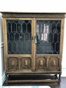 Antique Oak Bookcase/China Cabinet