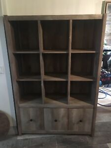 Beautiful (not ikea) high quality shelving unit need gone today