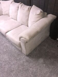 Suede white couch in awesome condition!