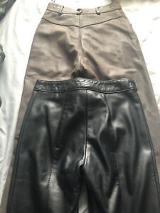 Italian leather and suede pants size 0