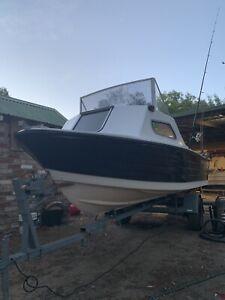 15ft half cabin boat