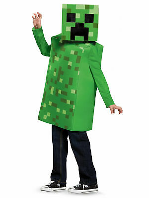 Minecraft Mojang Creeper Deluxe Childs Dress Up Costume Halloween
