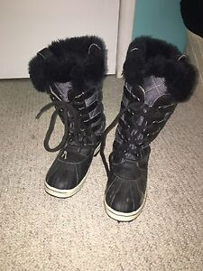 Pair of winter boots.