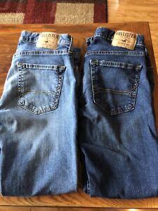 Hollister Men's Skinny Jeans x 2 . Size 31 x 30