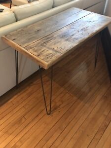 Awesome reclaimed barn board desk console table