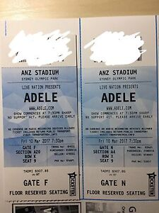 Adele live on 10/03/2017, 2 tickets available Ryde Ryde Area Preview