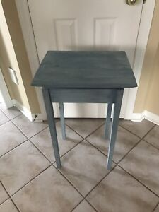 "Wooden ""floating"" side/end table"