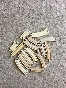 Wooden tracks for trains Lot C