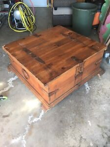 Treasure chest cafe table