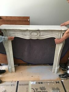 Beautiful French marble mantle