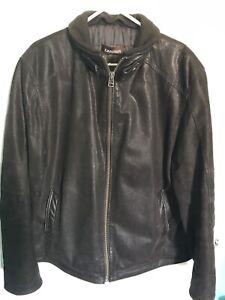 Thick leather suede Danier Coat, Good Condition Men's XL