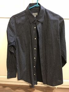 Club monoco casual dress shirt in paisley print size small