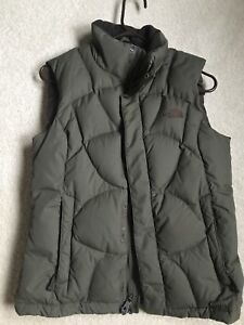 The North Face Womens Goose Down Puffer Olive Green  Vest