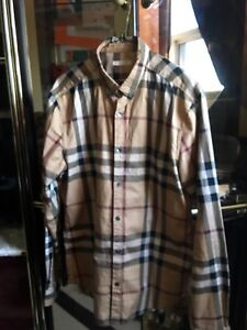 BURBERRY BRIT PATTERN LONG SLEEVE SHIRT