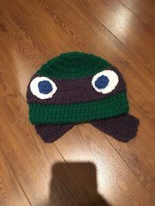 Ninja turtle knit hat