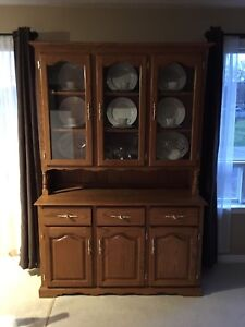 Solid oak Buffet and Hutch - Free Local Delivery