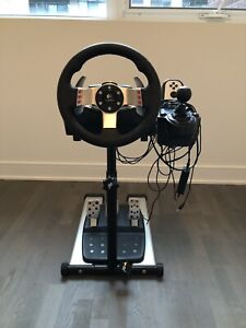 Logitech G27 Steering Wheel, shifter and Fanatec Stand - $300