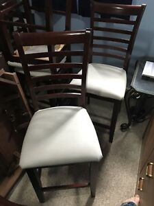 Dining chairs - pub height - set of four 4