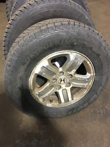225 75R16 Blizzak Winter Tires & Honda Pilot Wheels