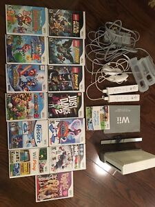 Wii full system, 2 remotes, 13 games
