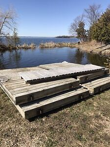 Wooden Floating Dock for sale plus ramp - cheap