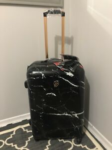 "New ""Marquina  black marble"" hardshell luggage by Heys"