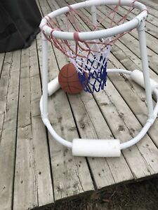 Pool basketball net