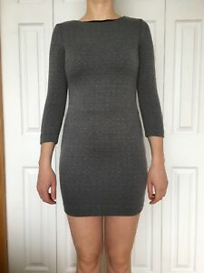 Dynamite Grey Long Sleeve Dress