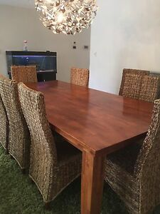 Dinning table and chairs 10 seater Grange Charles Sturt Area Preview