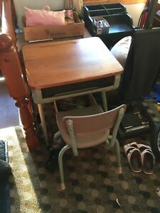Antique Children's desk and chair