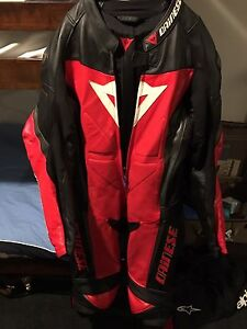 Dainese motorcycle bike kevlar suit and  shoe and gloves. South Fremantle Fremantle Area Preview