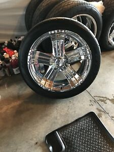 "22"" Mag wheels to fit Chevy half ton truck 6 Bolt"