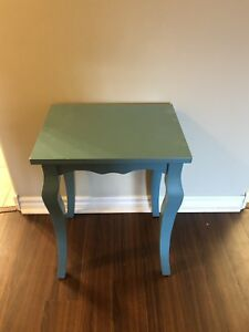 Teal blue table