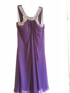 Purple knee length formal dress