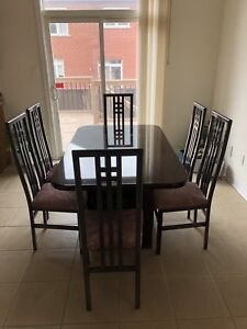 Dinette set (1 table + 6 chairs) for sale $150 OBO