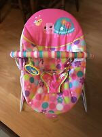 EUC Bright Stars Pretty Pink Safari Bouncer (LIKE NEW)