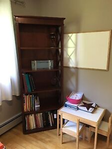 Beautiful Dark Cherry Bookshelf