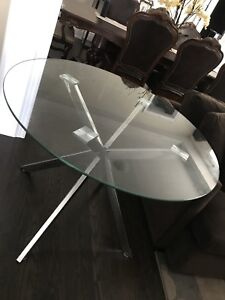 NEW! Modern glass chrome table NEVER USED!
