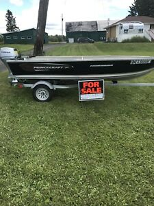 2016 Prince-craft fisherman boat with Honda 20hp outboard.